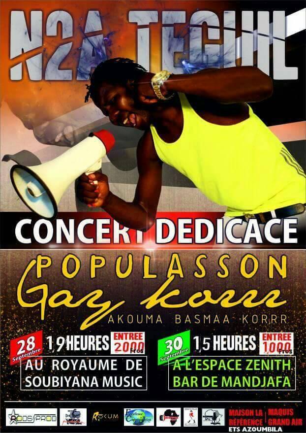 Tchad: N2A en concert les 28 et 30 septembre 2017pour le lancement de «Populasson gay korrr»