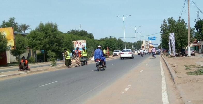 Société: Opération de salubrité des rues de N'Djamena