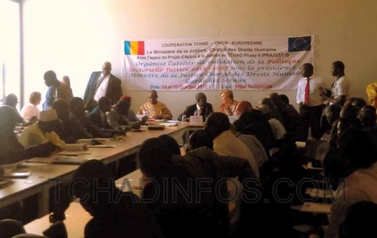 Tchad: La politique sectorielle de justice 2018-2027 soumise à validation