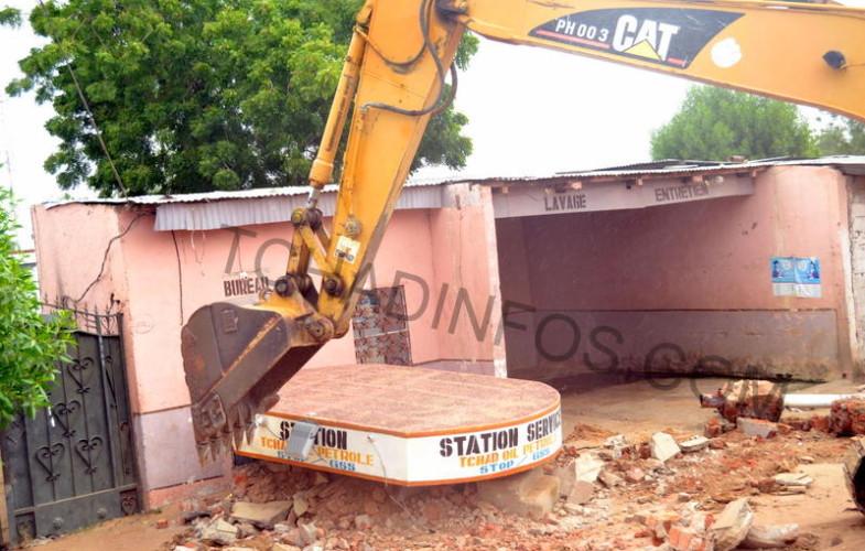 Tchad : Opération démolition des stations-service non conformes