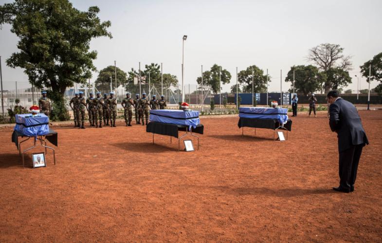 Mali : la MINUSMA rend hommage aux trois Casques bleus tchadiens tués dans une attaque fin octobre