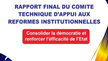 Réformes institutionnelles: le comité technique dénonce les accusations de plagiat