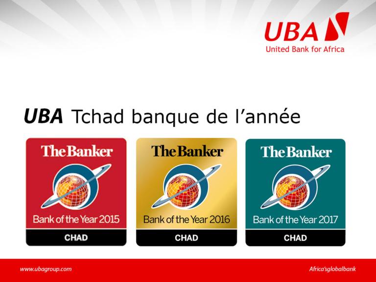 UBA Tchad désignée meilleure banque de l'année