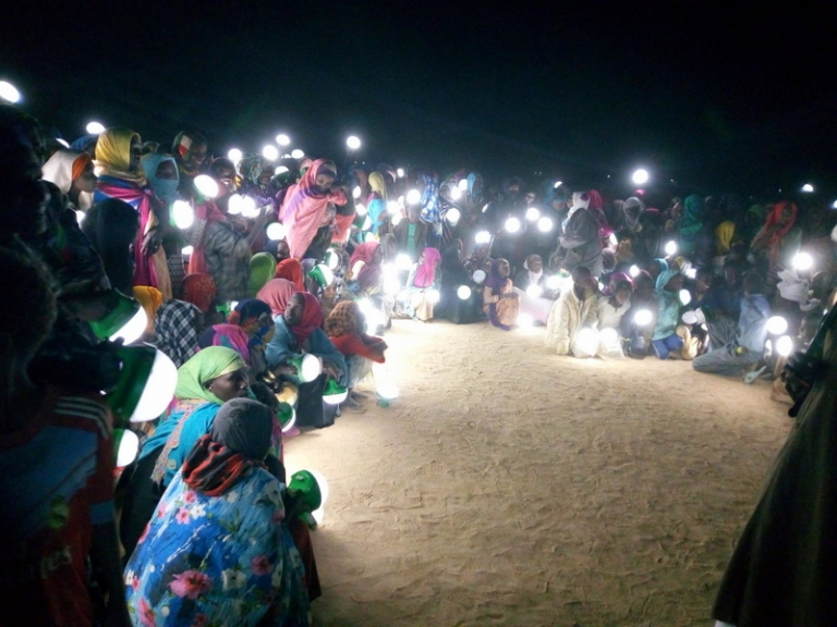 HCR : Célébration de la nuit lumineuse dans le camp d'Iridimi