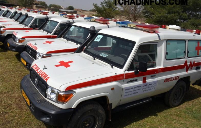Tchad : Cent ambulances et  dix corbillards au profit des délégations régionales sanitaires