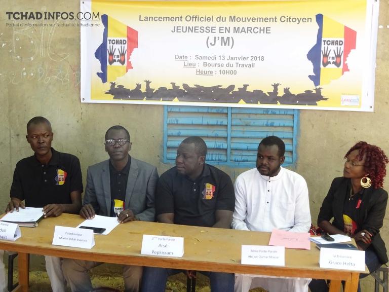 """Tchad : le Mouvement citoyen """"Jeunesse en Marche"""" voit le jour"""