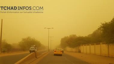Climat : N'Djamena engloutie par une poussière à perdre la vue