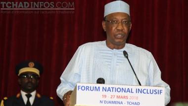 Forum national inclusif : le président Déby s'engage à matérialiser les résolutions des participants