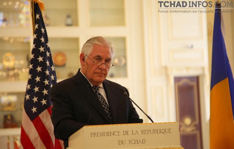 """Tchad/USA : """"le Tchad pourrait sortir de la liste noire des États-Unis rapidement"""" Rex Tillerson"""