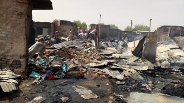Incendie au marché d'Habbena : Plus de cent boutiques seraient parties en fumée