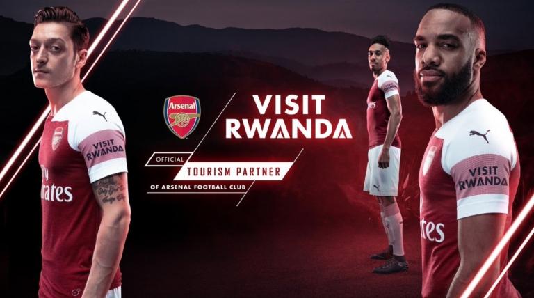 Le Rwanda sponsorise l'équipe de football anglais Arsenal