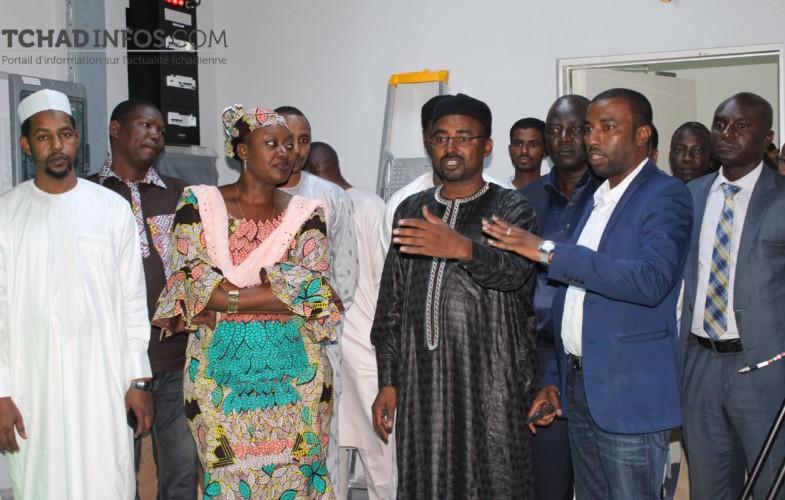 Tchad : la ministre Alixe Naîmbaye visite le nouveau siège de la RTVT