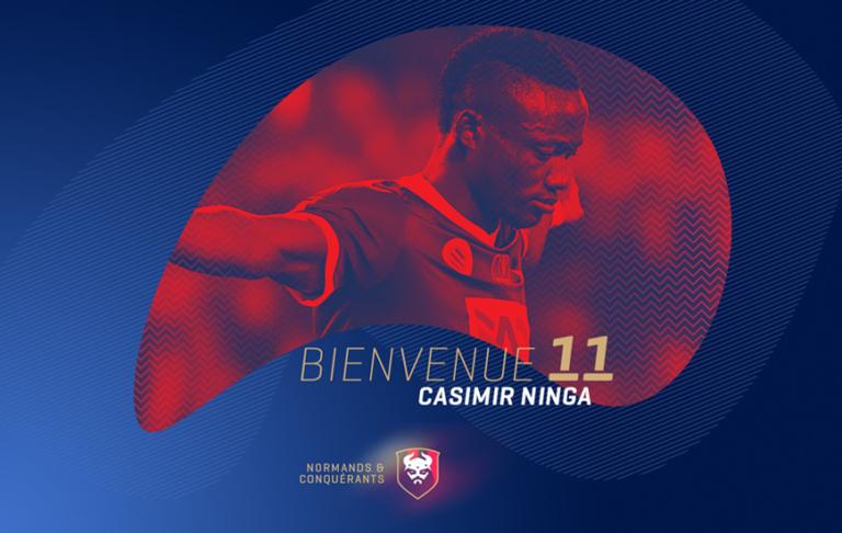 Football : l'international tchadien Casimir Ninga signe pour 4 ans avec le SM Caen