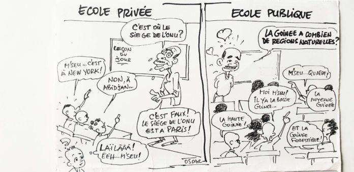 Niveau du système éducatif 5/11 : école publique vs école privée en Guinée