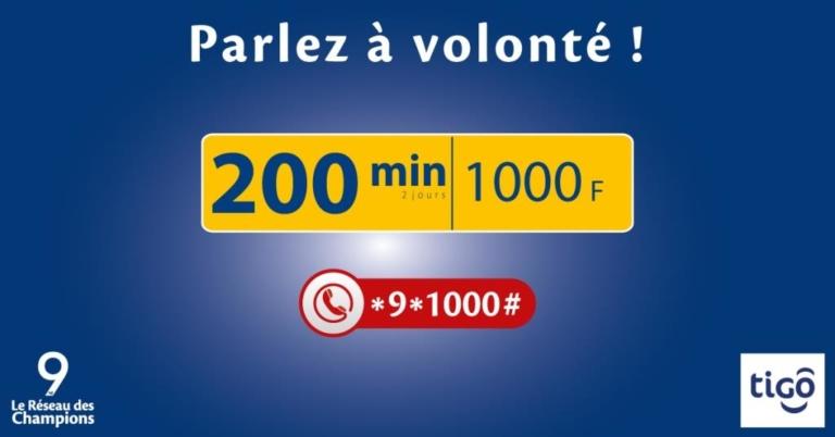 Tchad : Tigo lance « Forfait MAXI 200min» !