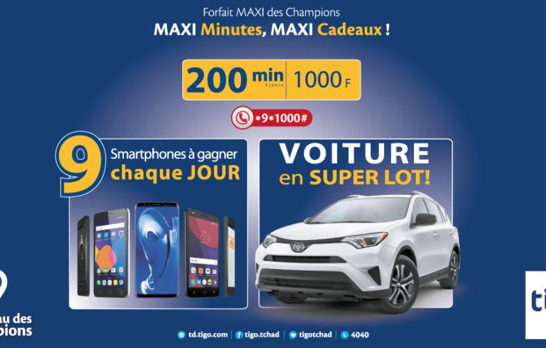 Tigo : De nombreux lots à gagner avec le « Forfait MAXI 200 min »