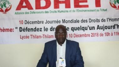 Journée des Droits de l'Homme: l'ADHET interpelle le gouvernement sur les comportements nuisant à la paix et la cohésion sociale