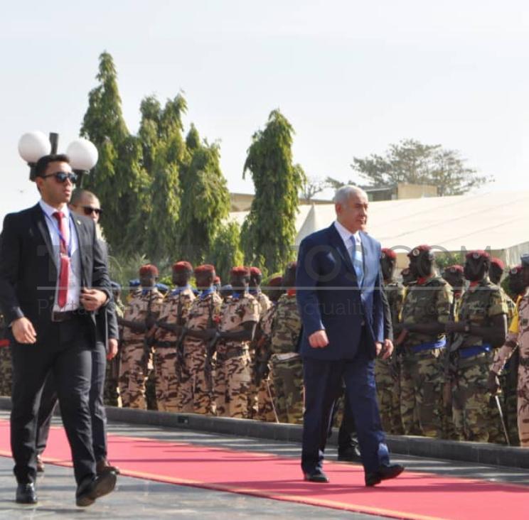 Arrivée de Benjamin Netanyahou au Palais Rose.