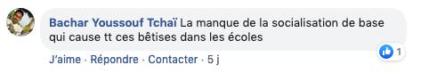 Commentaire sur Facebook