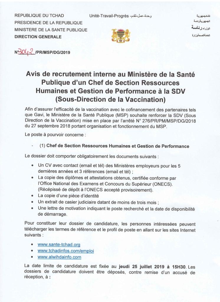 énorme réduction bb5be 2e39c Emploi : avis de recrutement au ministère de la Santé ...