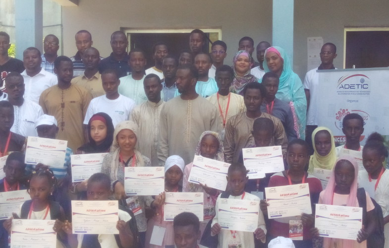 Tchad – Vacances numériques : 150 jeunes formés en TIC reçoivent leurs attestations