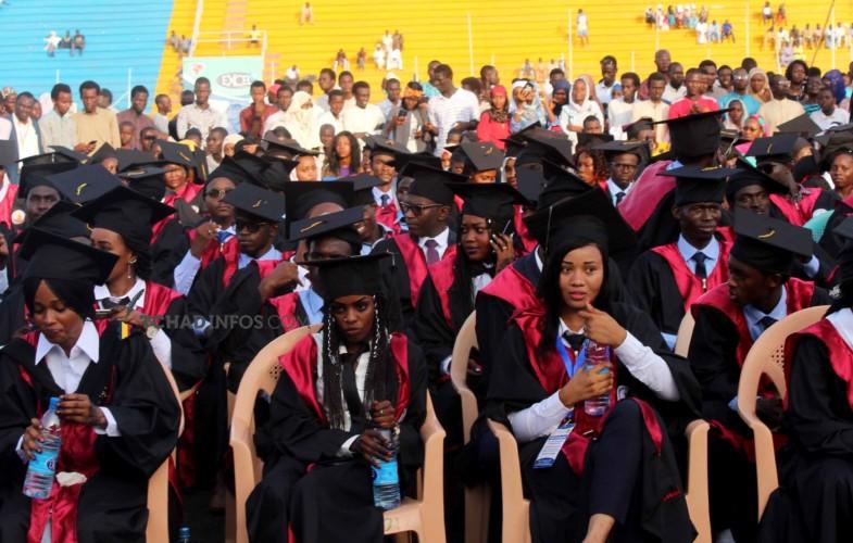Tchad : 674 lauréats de la 6e promotion de l'UNEK ont reçu leurs parchemins