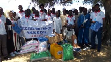 Société : l'ABEFT fait un don de matériels et de vivres au personnel du cimetière de Lamadji