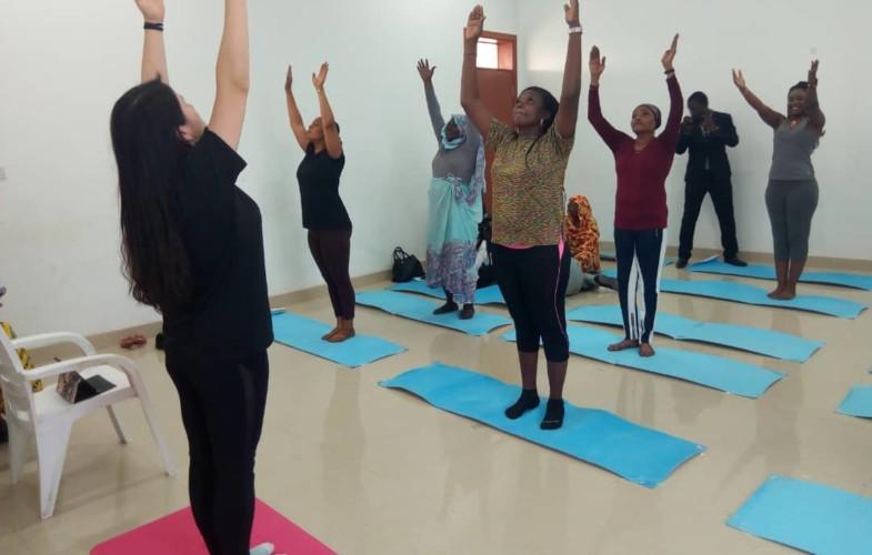 Tchad : la Maison de la Femme initie des séances de Yoga pour le loisir des femmes
