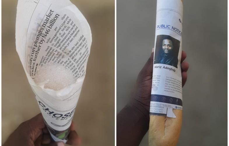 Tchad : attention à l'hygiène des papiers d'emballage