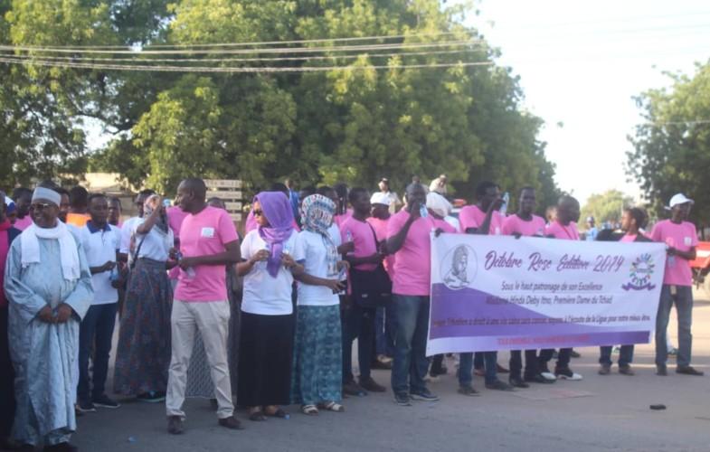 """Tchad : la marche de l'espoir clôt les activités """"d'octobre rose"""""""