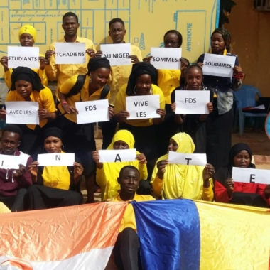 Niger : les étudiants tchadiens de l'IFTIC ont rendu hommage aux soldats nigériens