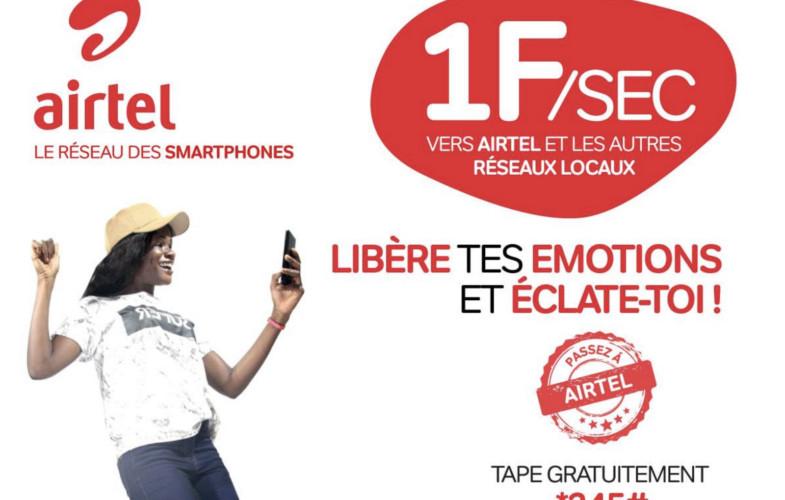 Airtel Tchad ramène le tarif de la communication téléphonique à 1F la seconde