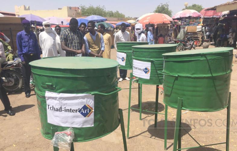 Covid-19 : la plateforme Tchad Inter'art offre dix lavoirs publics au marché central