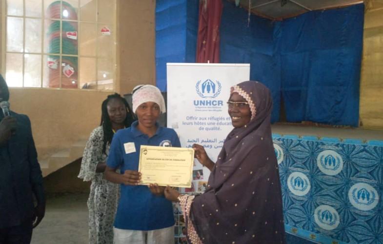 Tchad : 38 réfugiés reçoivent leurs parchemins de fin de formation technique et professionnelle