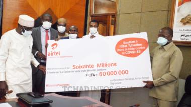 Coronavirus : Airtel Tchad donne 60 Millions de FCFA pour soutenir les Agents de Santé