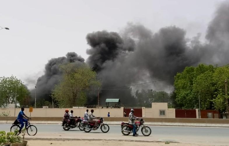 N'Djamena : Incendie derrière la direction des douanes