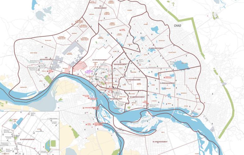 Tchad: voici la délimitation de la ville de N'Djamena
