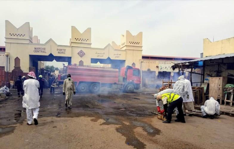 Tchad : les marchés désinfectés avant la réouverture