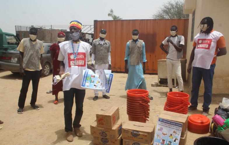 Coronavirus: l'humoriste Hadre Dounia fait un don à la maison d'arrêt de N'Djamena
