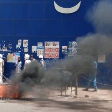 Faits Divers: une moto prend feu sur l'avenue Charles de Gaulle à N'Djamena