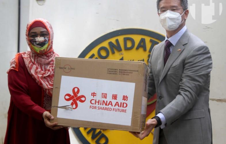 Coronavirus : la première dame chinoise  fait un don de matériels à la Fondation Grand Cœur
