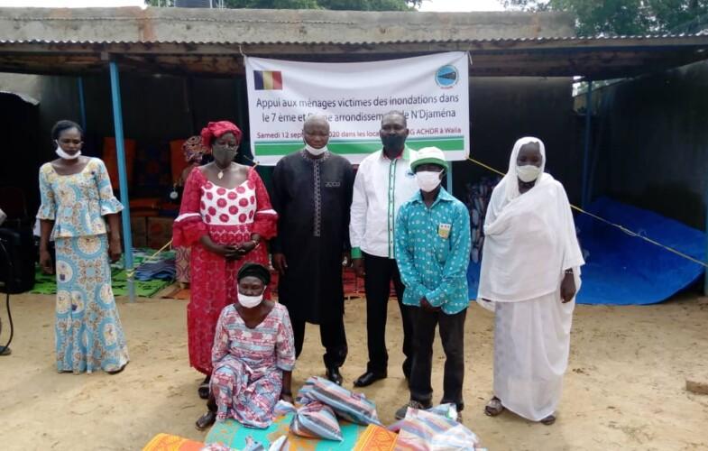 Tchad : l'ONG ACHDR remet des vivres et non vivres aux sinistrés des inondations
