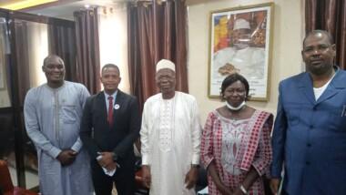 Tchad : l'équipe de la Semaine mondiale de l'entrepreneuriat reçue à la Présidence