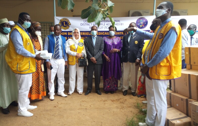 Covid-19 : le  district 403 B1 de   Lions club fait un don  de matériels médicaux au Tchad