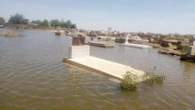 Montée des eaux : l'ancien cimetière de Ngonba inondé