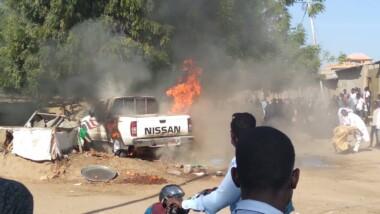 تشاد: حادث إصطدام أدى إلى إشتعال السيارة