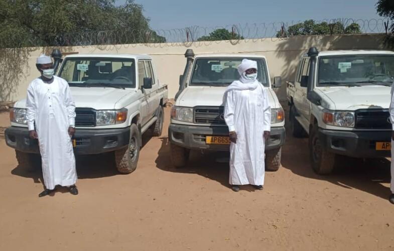 Guéra: remise de véhicules au gouverneur et préfets