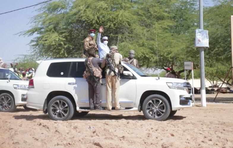 Tchad : le chef de l'Etat  à Mao, la »ville blanche»