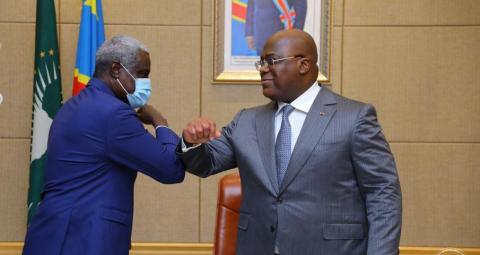 Afrique : Moussa Faki Mahamat est en RDC pour une visite de travail