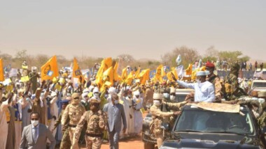Le Maréchal du Tchad est arrivé à Goz Beida